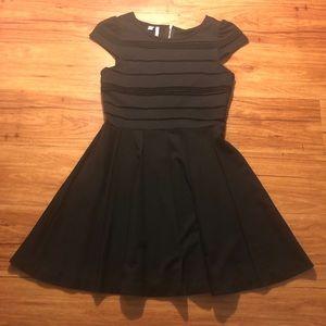 Elle Little Black Dress Exposed Gold Zipper
